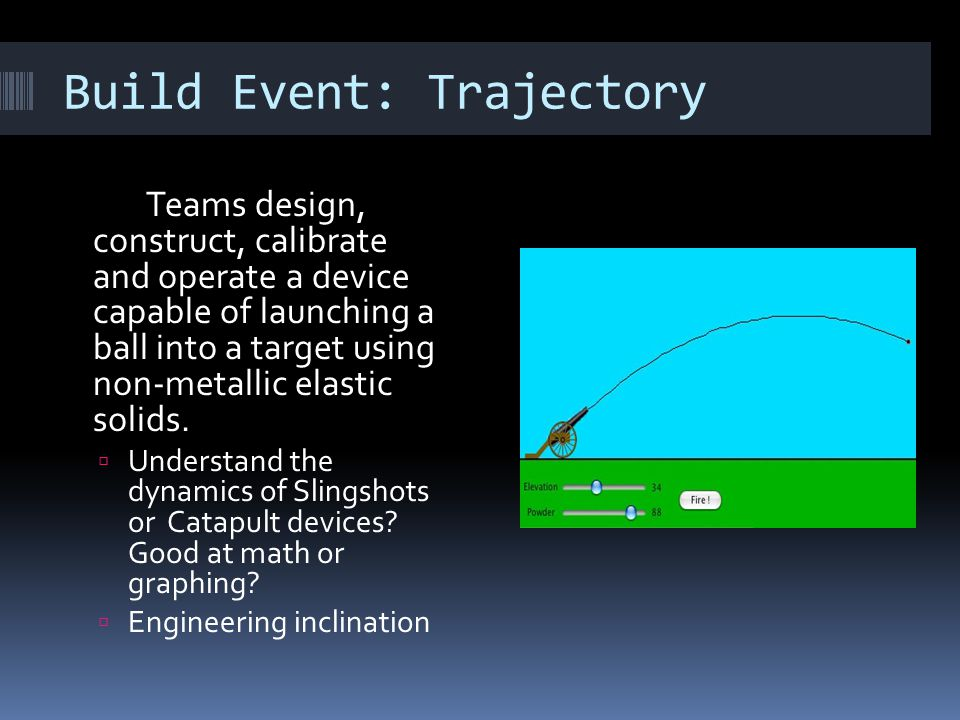 Build Event: Trajectory
