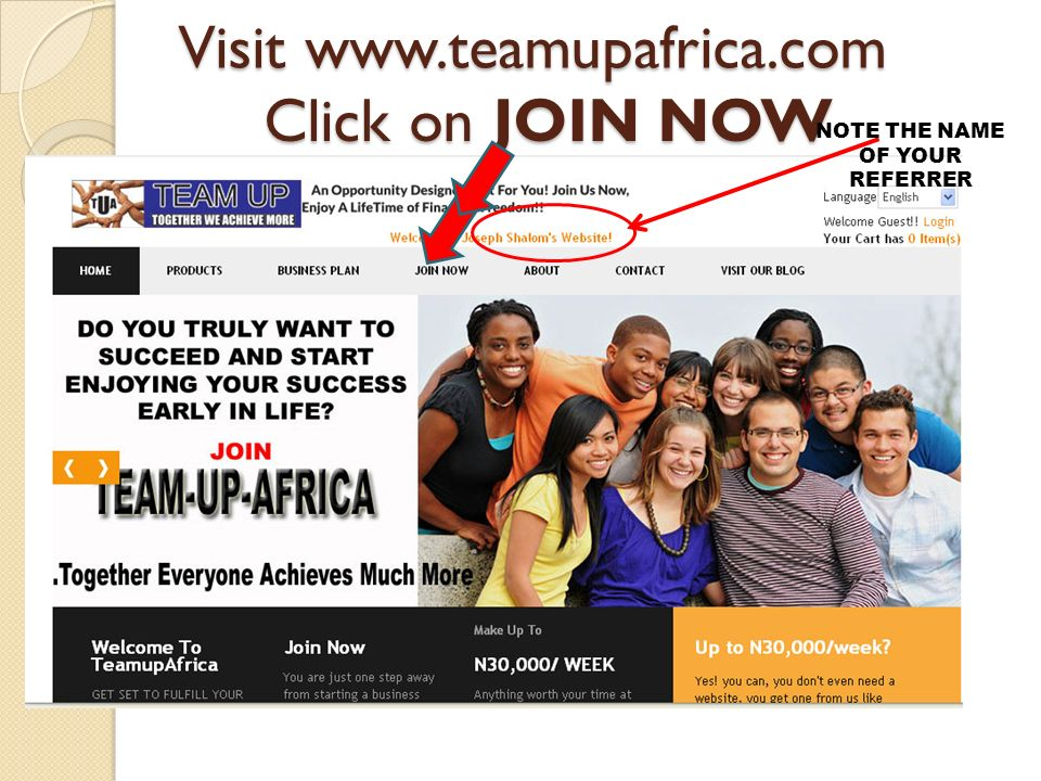 Visit www.teamupafrica.com