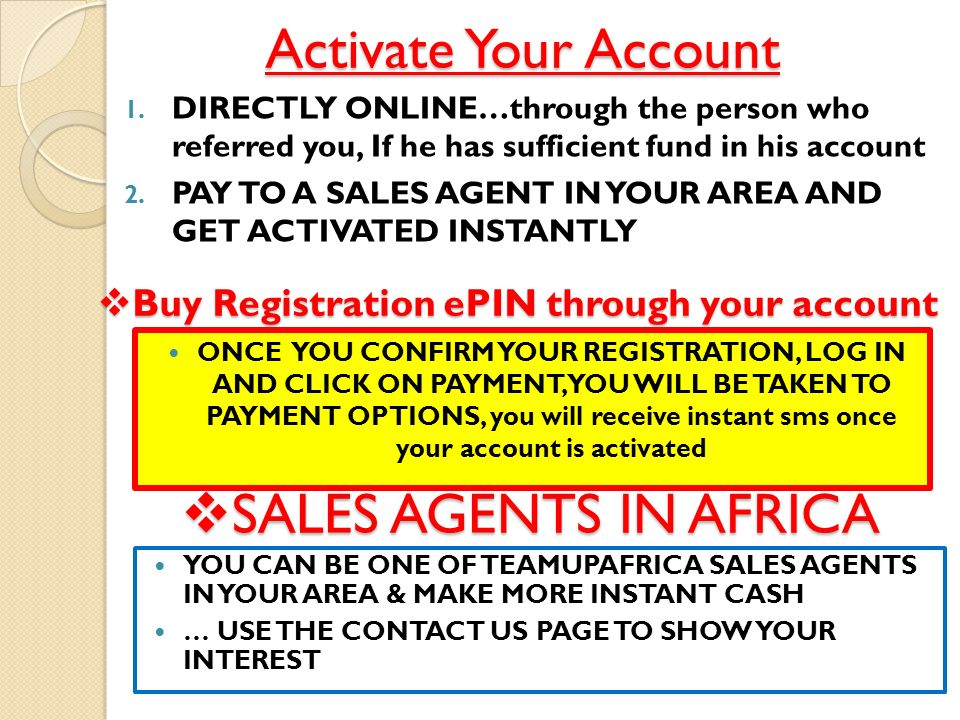 Buy Registration ePIN through your account