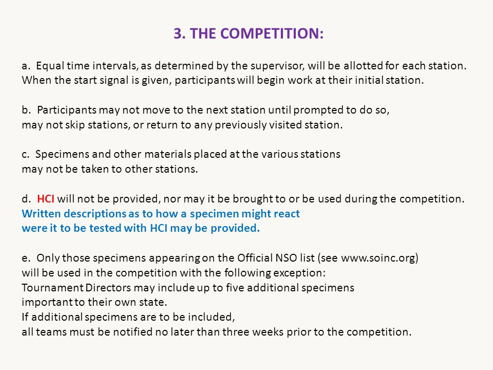 3. THE COMPETITION: