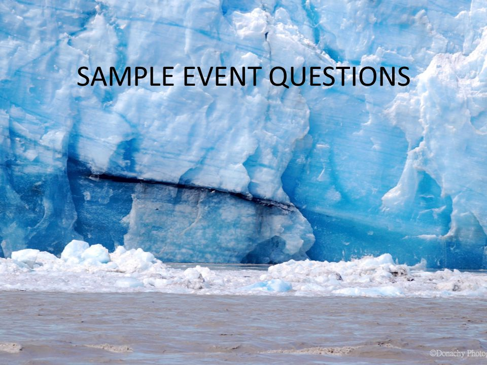 SAMPLE EVENT QUESTIONS