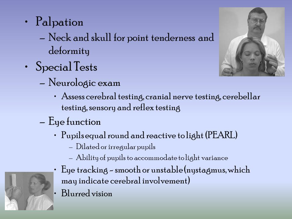 Palpation Special Tests