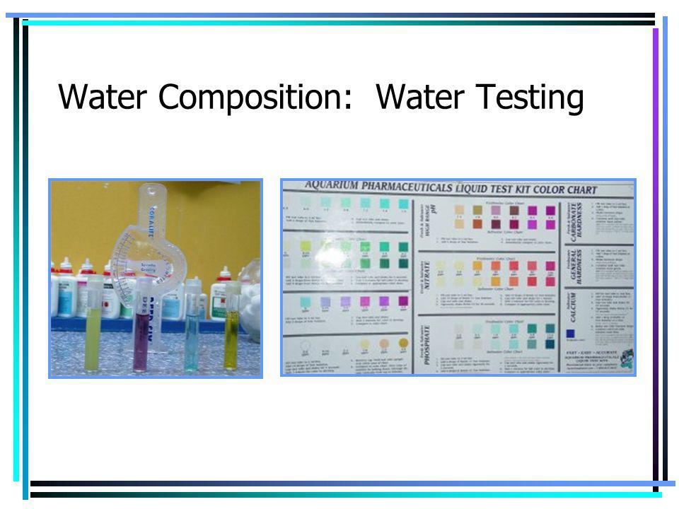 Water Composition: Water Testing