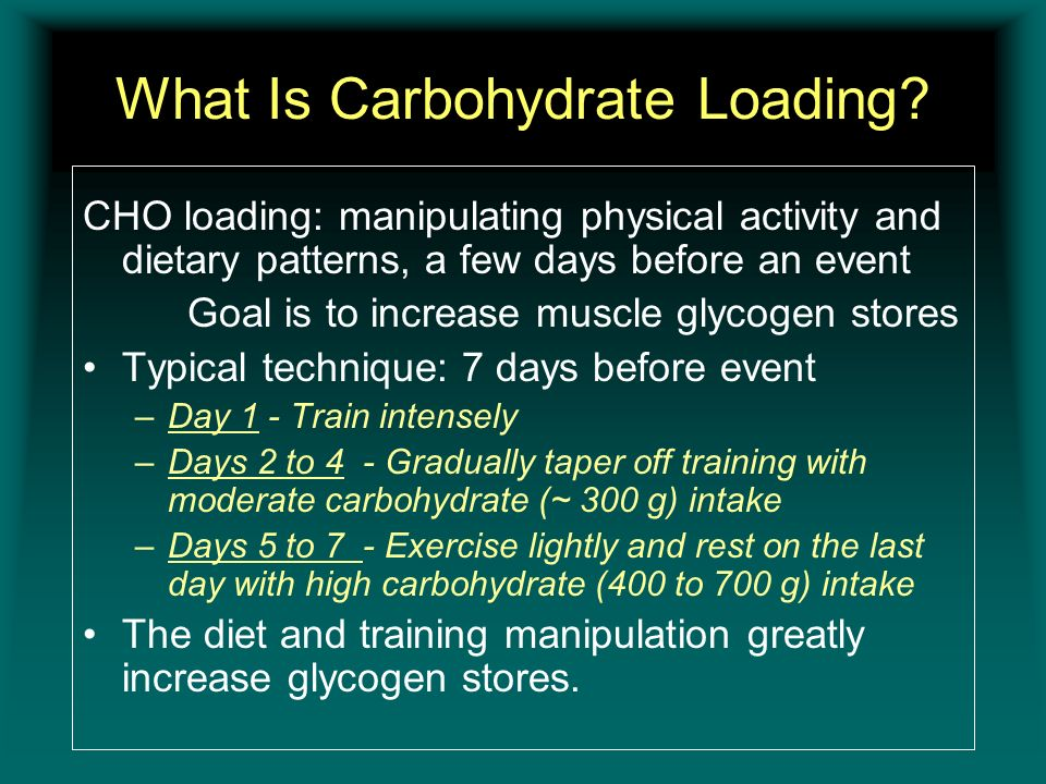 What Is Carbohydrate Loading