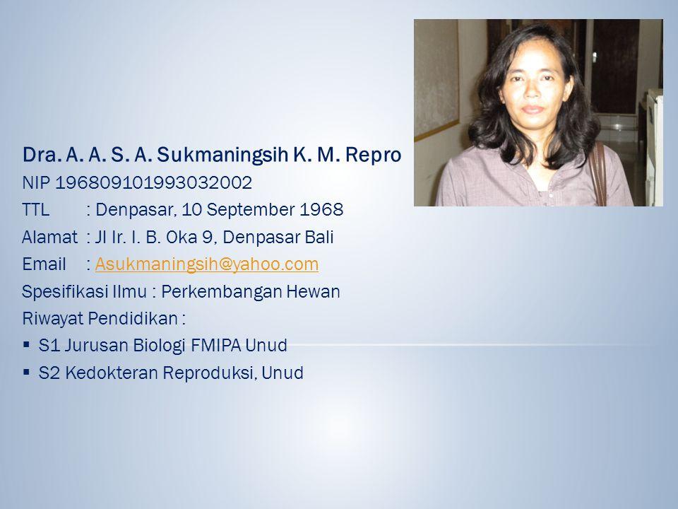 Dra. A. A. S. A. Sukmaningsih K. M. Repro