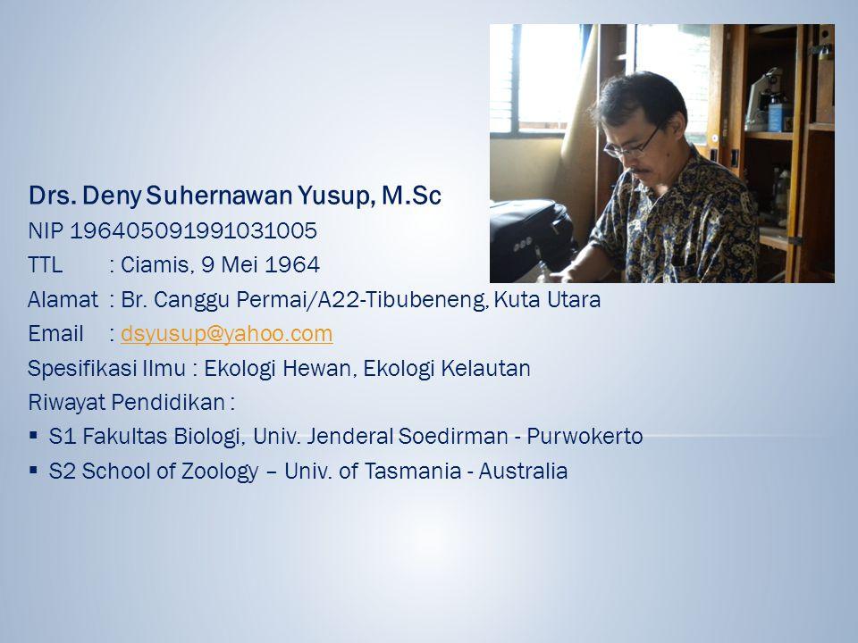 Drs. Deny Suhernawan Yusup, M.Sc