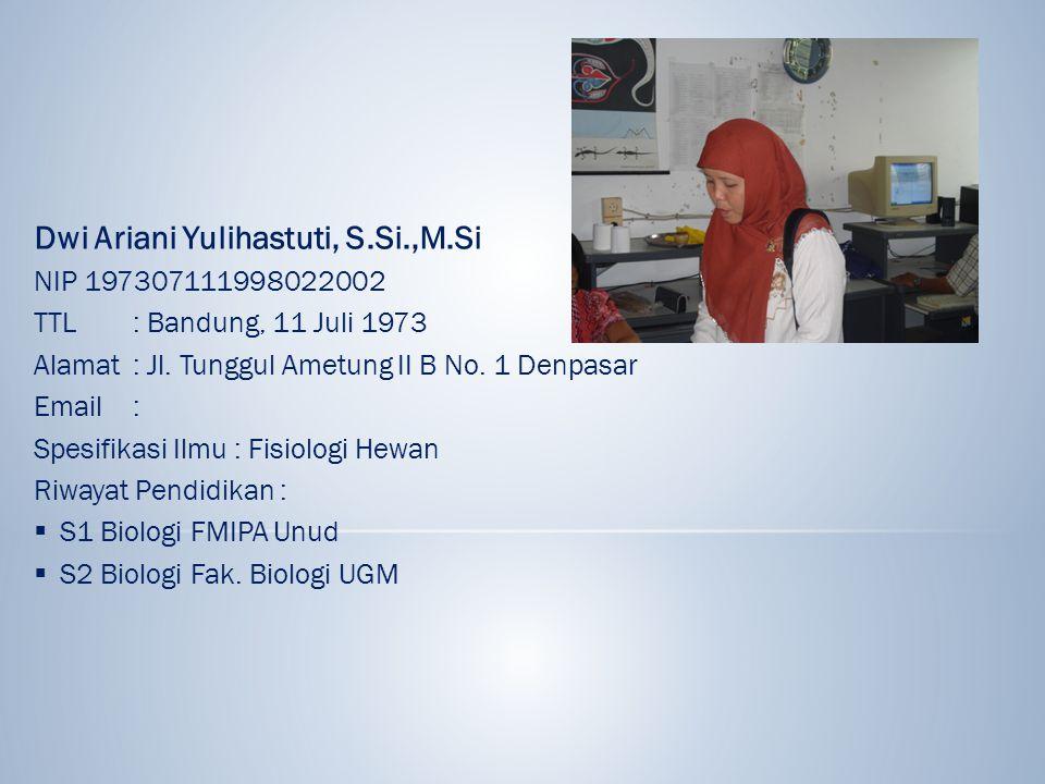 Dwi Ariani Yulihastuti, S.Si.,M.Si