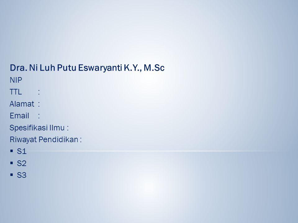 Dra. Ni Luh Putu Eswaryanti K.Y., M.Sc