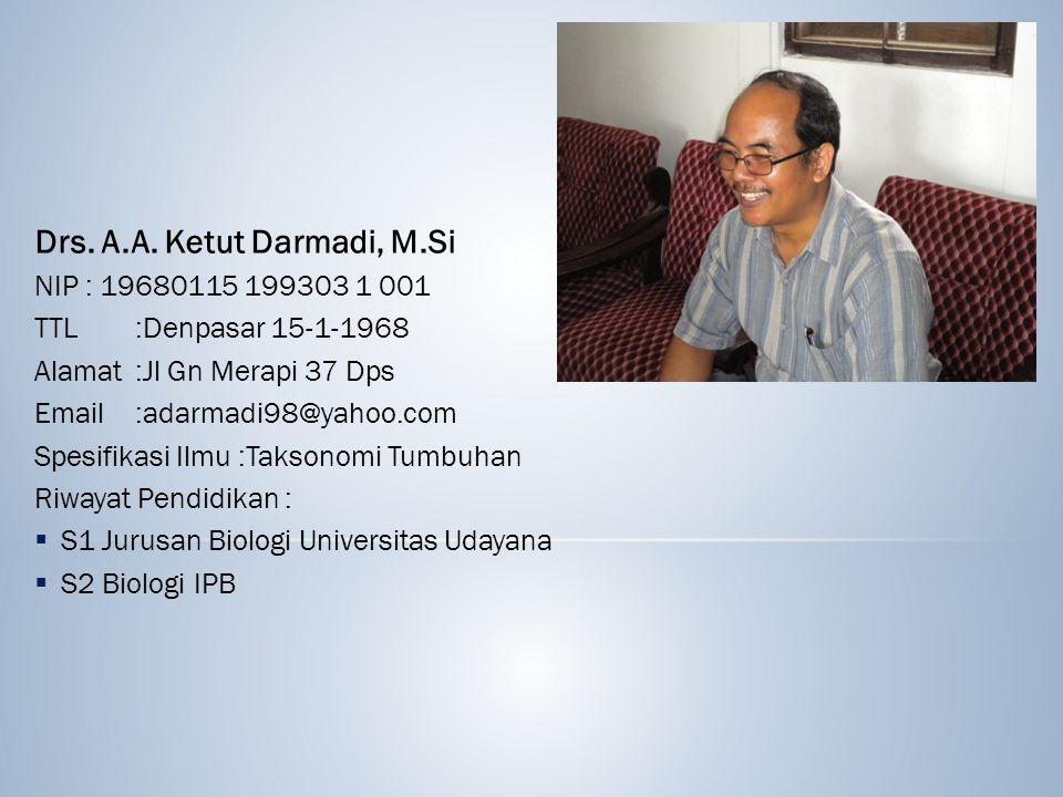 Drs. A.A. Ketut Darmadi, M.Si