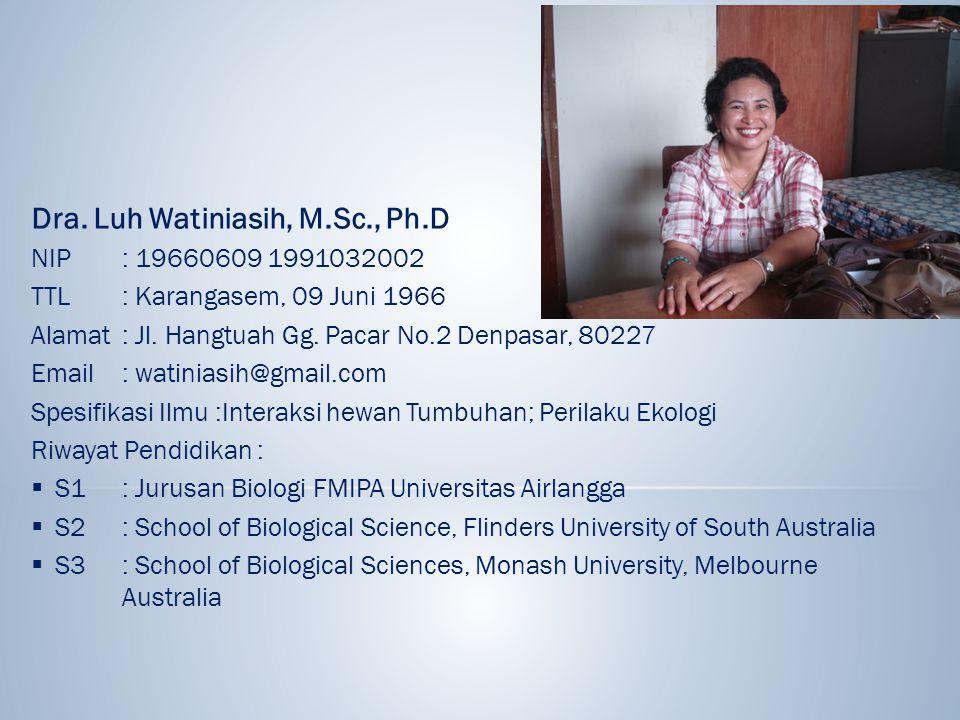 Dra. Luh Watiniasih, M.Sc., Ph.D