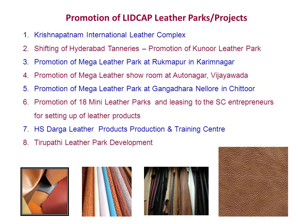 Promotion of LIDCAP Leather Parks/Projects