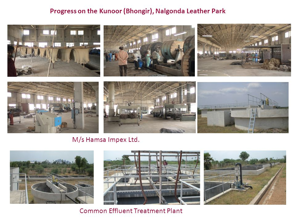 Progress on the Kunoor (Bhongir), Nalgonda Leather Park