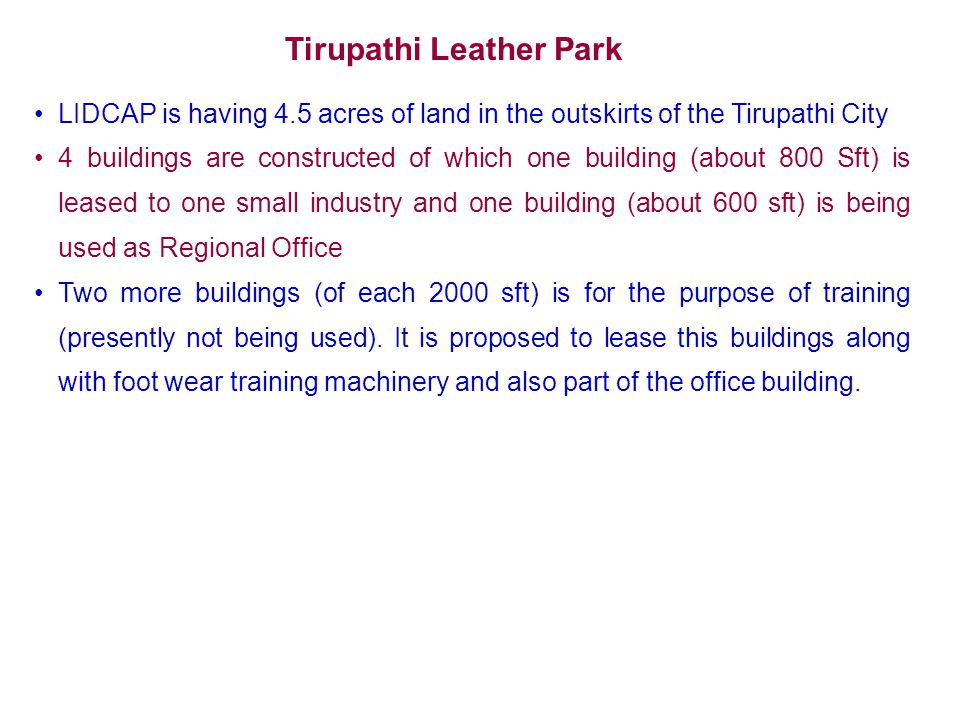 Tirupathi Leather Park