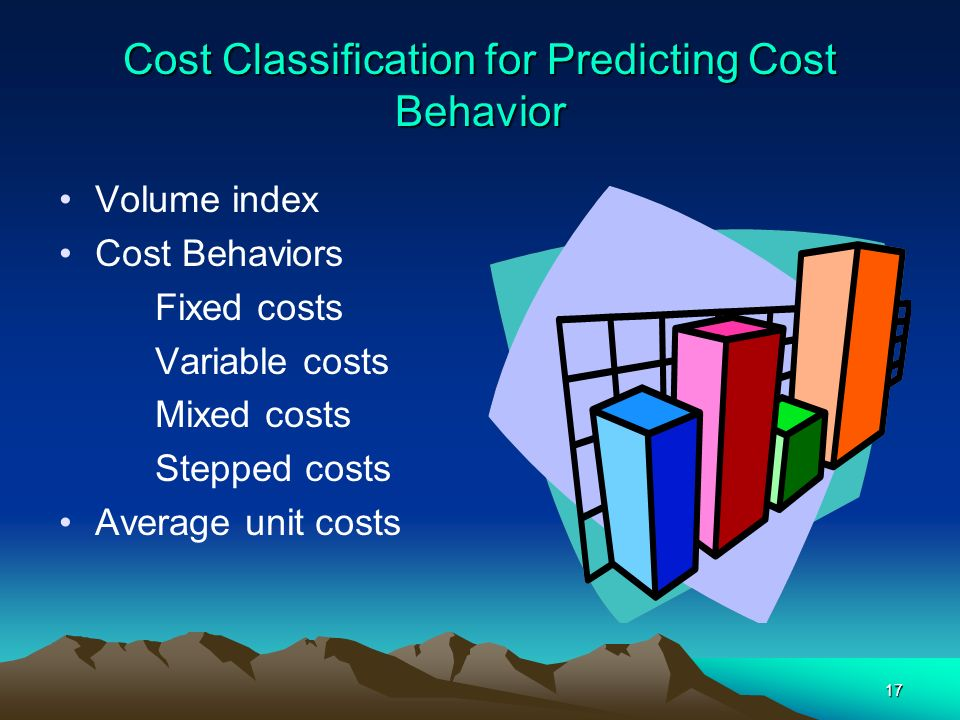Cost Classification for Predicting Cost Behavior
