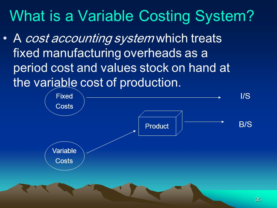 What is a Variable Costing System