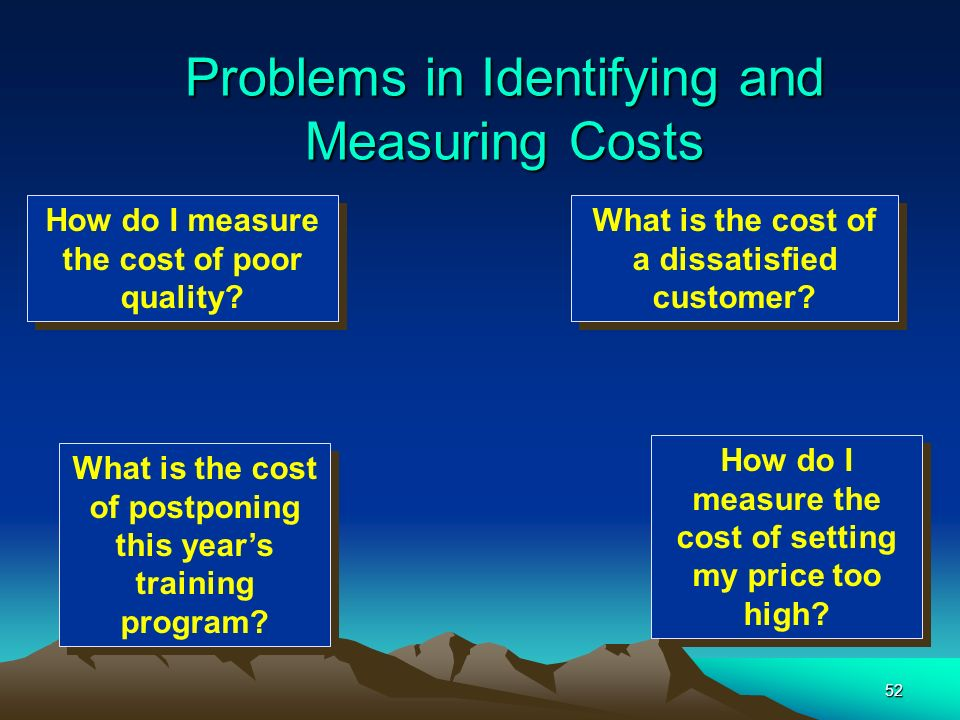 Problems in Identifying and Measuring Costs
