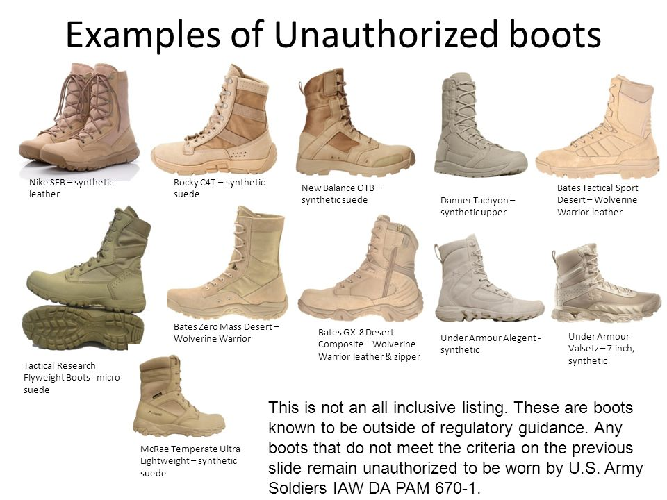 Examples of Unauthorized boots