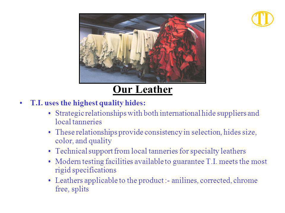 Our Leather T.I. uses the highest quality hides: