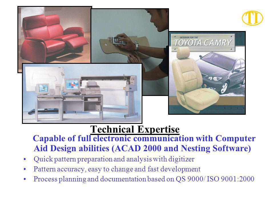Technical Expertise Capable of full electronic communication with Computer Aid Design abilities (ACAD 2000 and Nesting Software)
