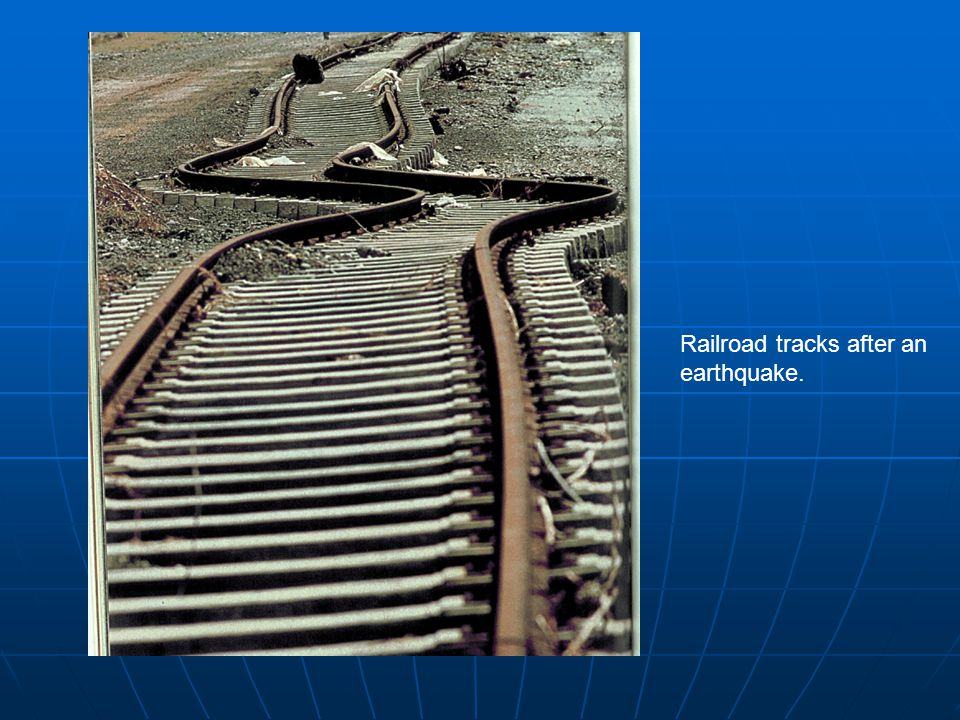 Railroad tracks after an