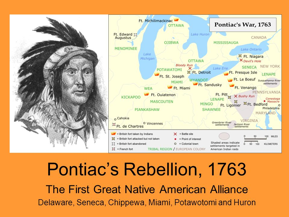 Pontiac's Rebellion, 1763 The First Great Native American Alliance
