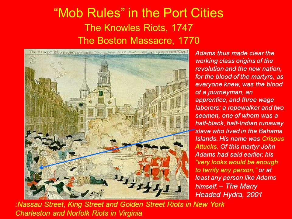 Mob Rules in the Port Cities