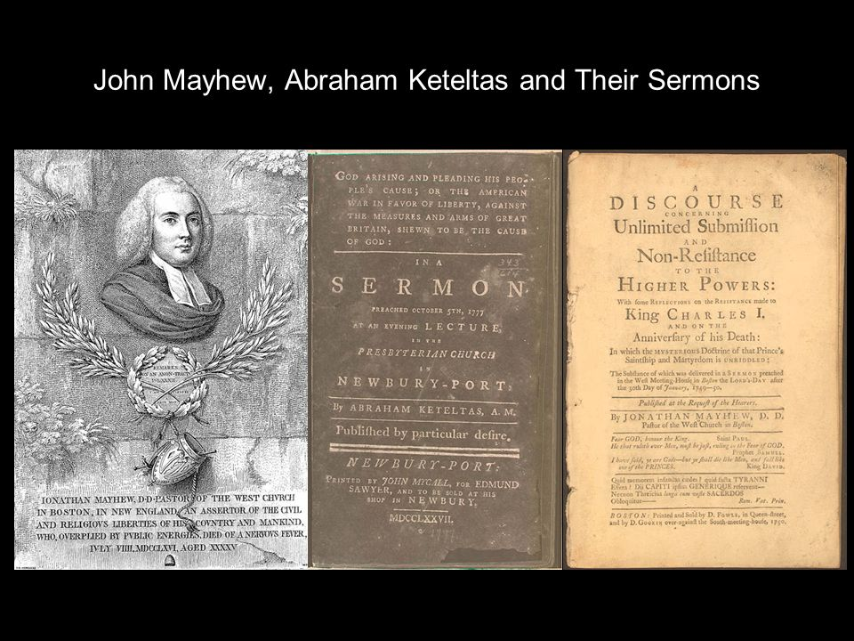 John Mayhew, Abraham Keteltas and Their Sermons