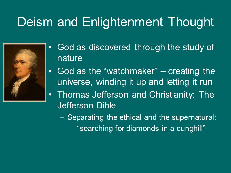 Deism and Enlightenment Thought