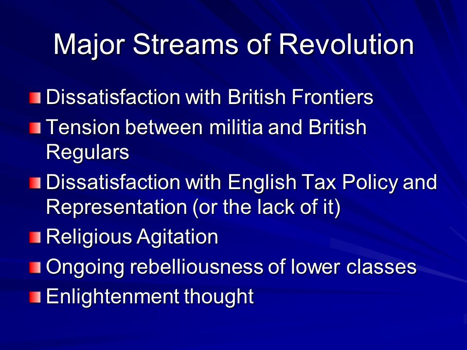 Major Streams of Revolution