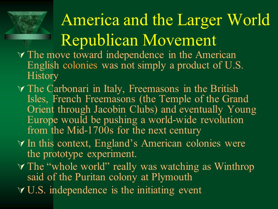 America and the Larger World Republican Movement