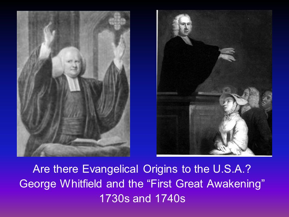 Are there Evangelical Origins to the U.S.A.