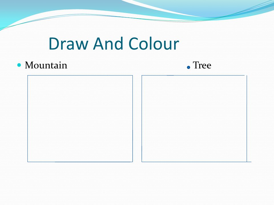Draw And Colour Mountain Tree