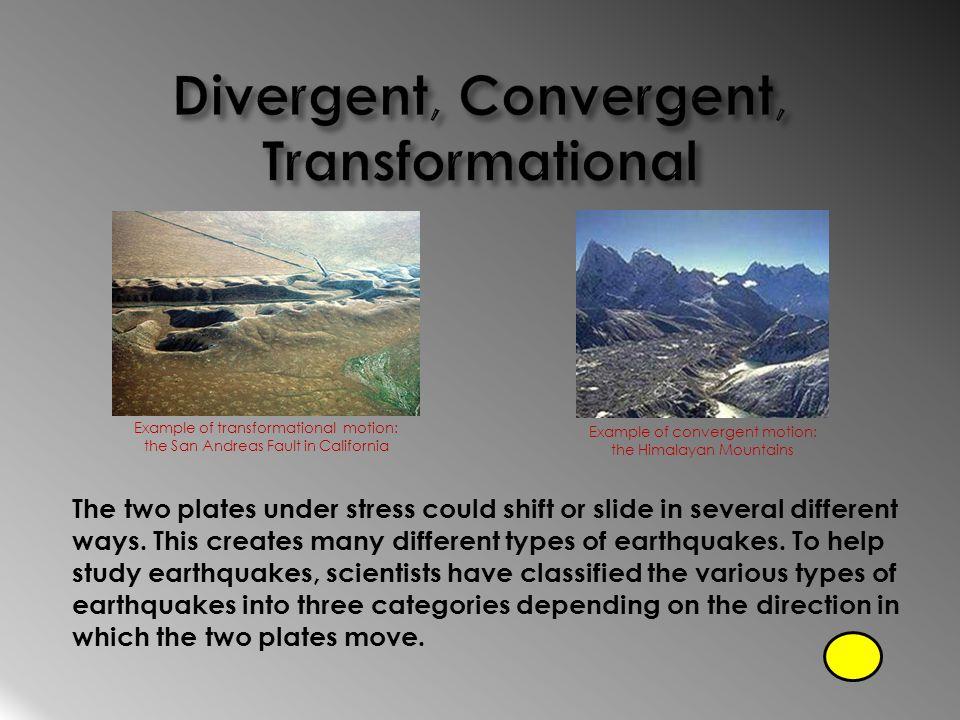 Divergent, Convergent, Transformational