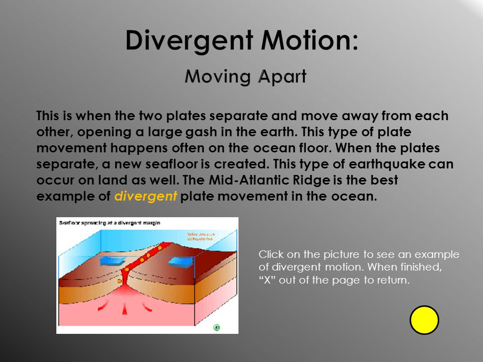 Divergent Motion: Moving Apart