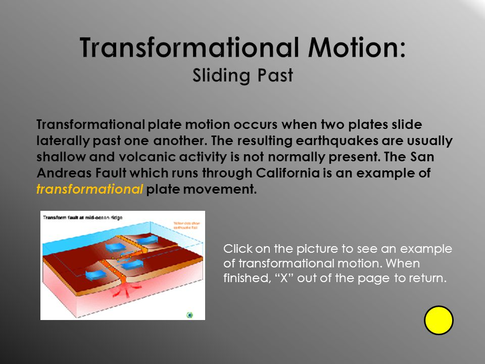 Transformational Motion: Sliding Past