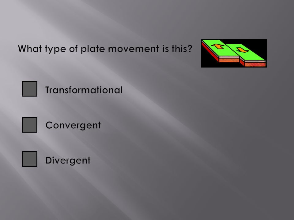 What type of plate movement is this