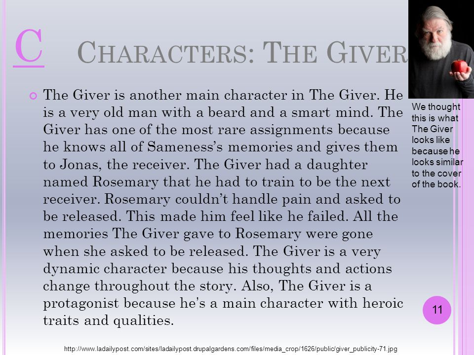 C Characters: The Giver