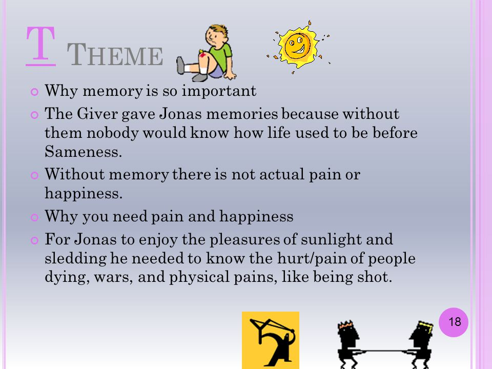 T Theme Why memory is so important