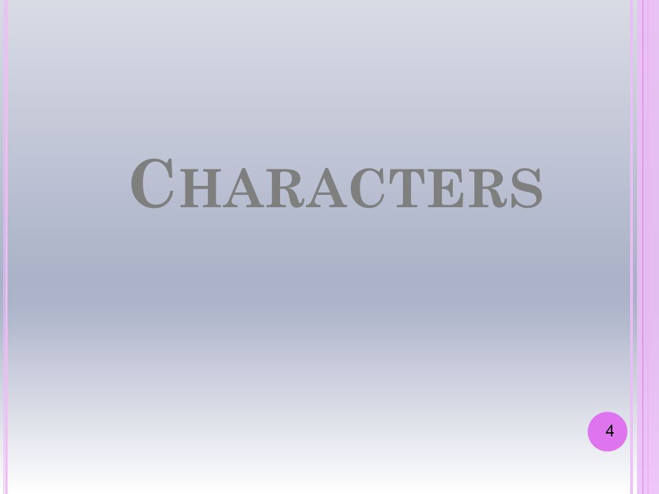 Characters 4