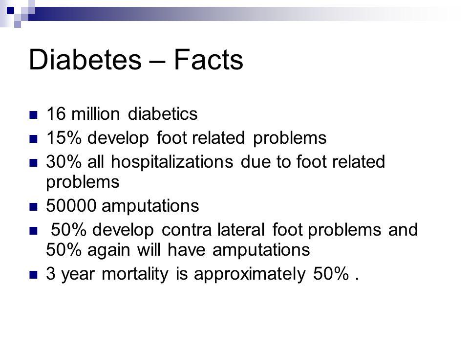 Diabetes – Facts 16 million diabetics