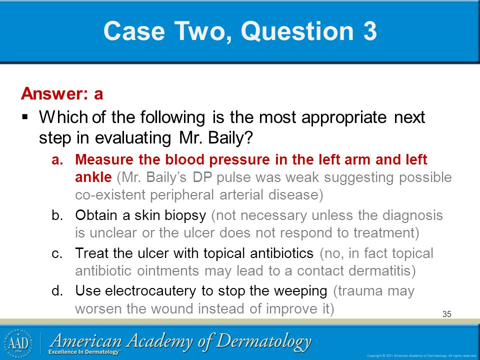 Case Two, Question 3 Answer: a