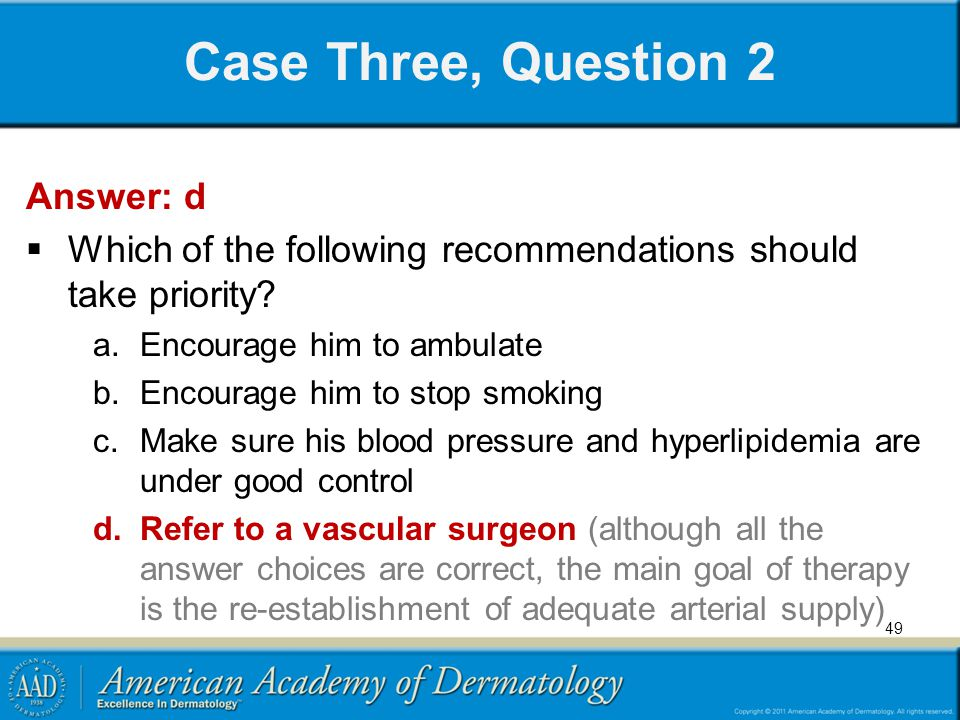 Case Three, Question 2 Answer: d