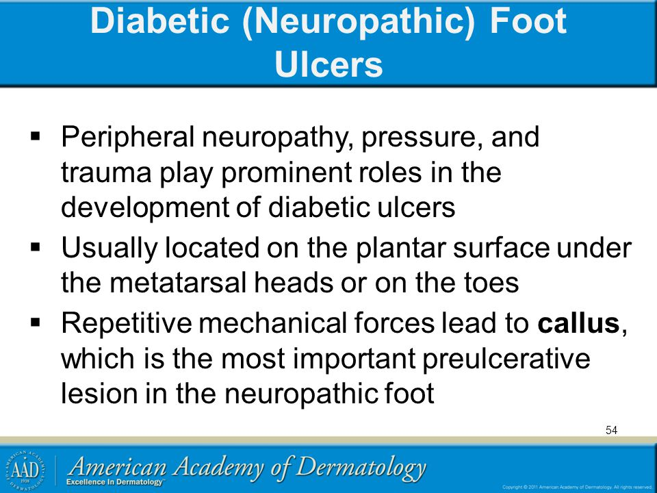 Diabetic (Neuropathic) Foot Ulcers