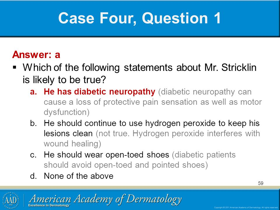 Case Four, Question 1 Answer: a