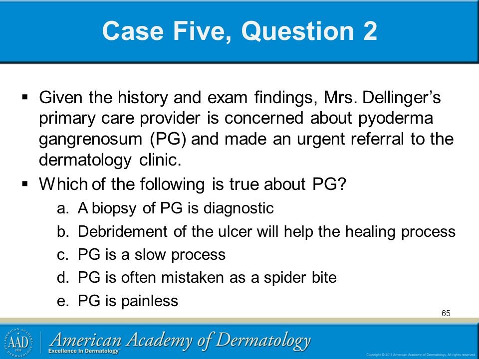 Case Five, Question 2