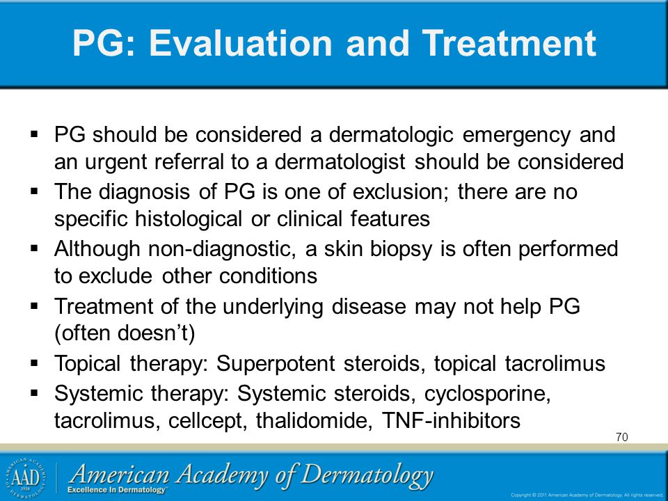 PG: Evaluation and Treatment