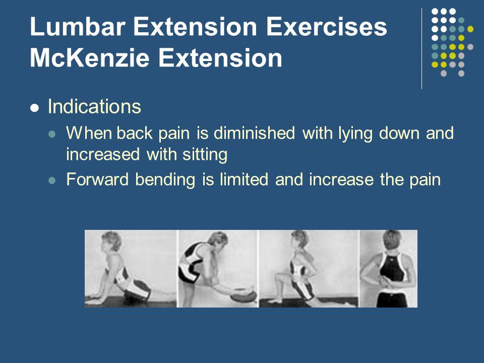 Lumbar Extension Exercises McKenzie Extension