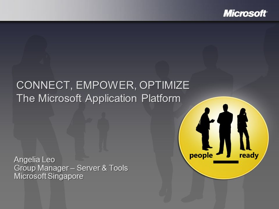 CONNECT, EMPOWER, OPTIMIZE The Microsoft Application Platform