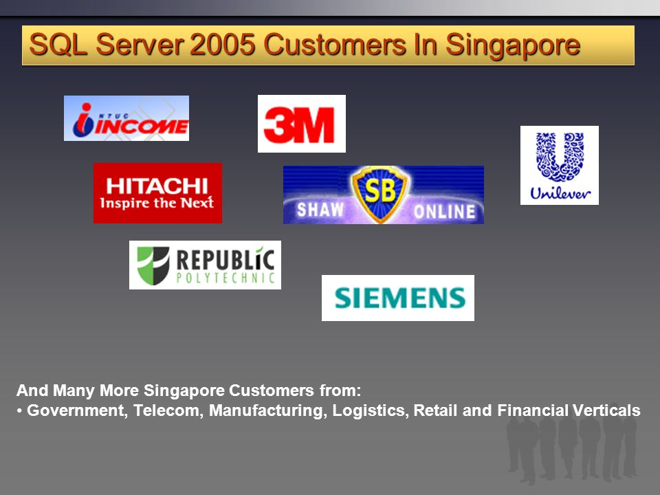 SQL Server 2005 Customers In Singapore
