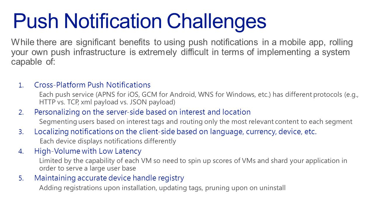 Push Notification Challenges
